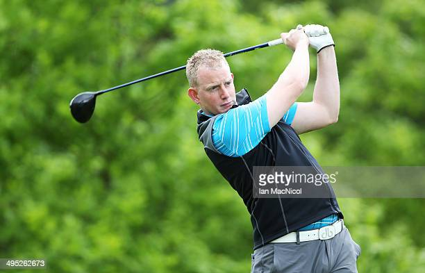 KINGDOM JUNE 02 Ewen MacPherson of Auchterarder Golf Club tee's off at the first during the Powerade PGA Assistants' Championship Scottish Regional...