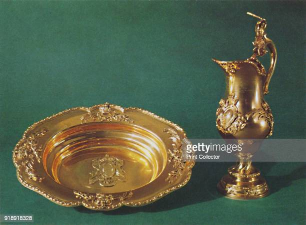 'Ewer and basin c1735' 1953 The pieces are part of the Royal Collection at the Tower of London They were used in 1738 for the baptism of the future...