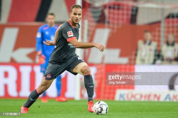 Ewerton of Nuernberg controls the ball during the Bundesliga match between Fortuna Duesseldorf and 1 FC Nuernberg at the Merkur SpielArena on...