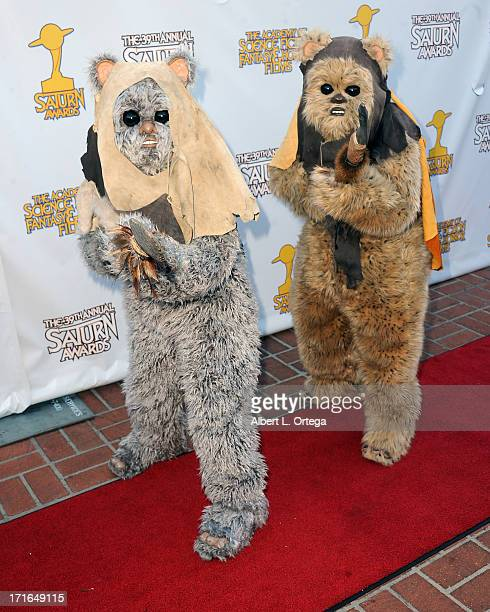Ewoks attend the 30th Annual Saturn Awards held at The Castaway on June 26 2013 in Burbank California