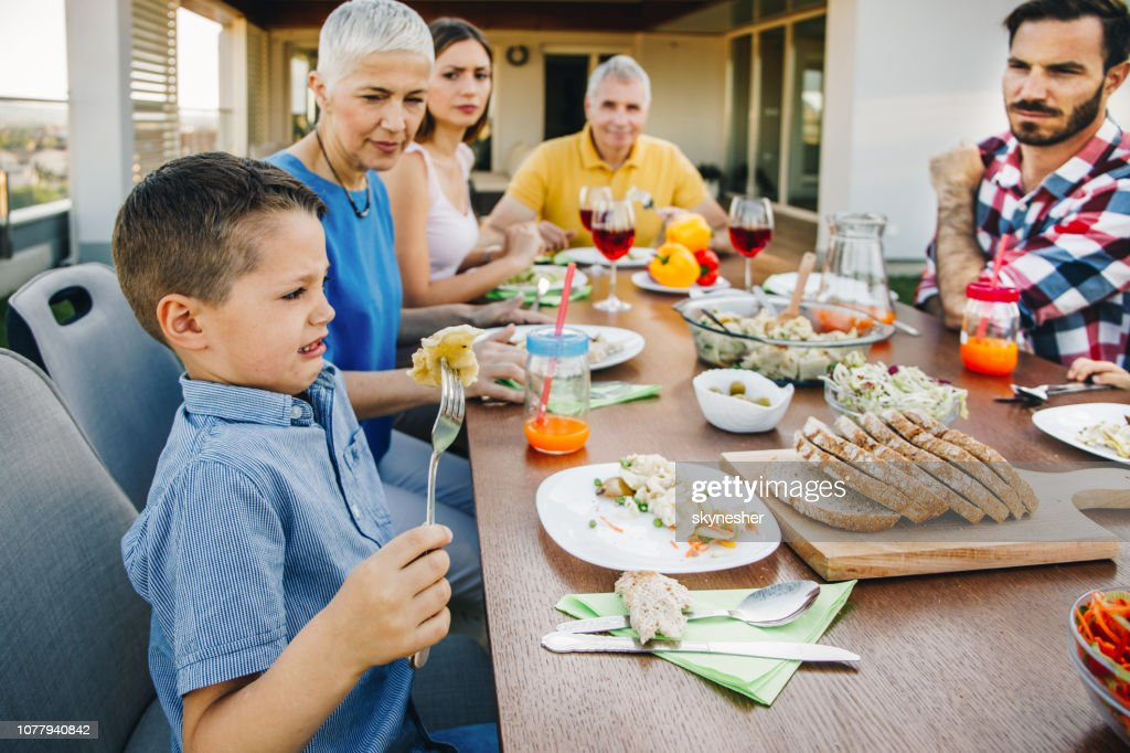 Eww, I don't want to eat this! : Stock Photo