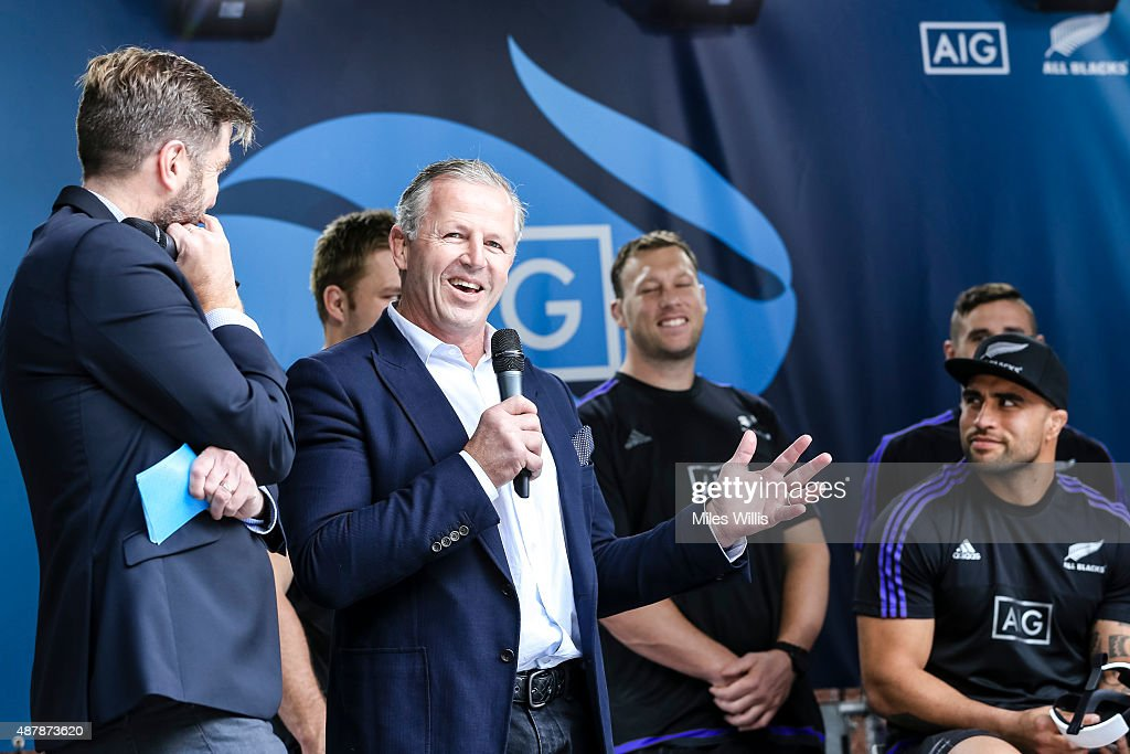 Ex All Blacks player Sean Fitzpatrick attends the Haka 360 Experience Launch Event at Oxo Tower Wharf South Wharf on September 12, 2015 in London, England. The Haka 360 Experience is an app which uses 360 degree video technology to give the viewer the feeling of being on the field with the All Blacks and in the midst of the powerful Maori ritual. The app is available via aig.com/haka360, on the App Store and Google Play.