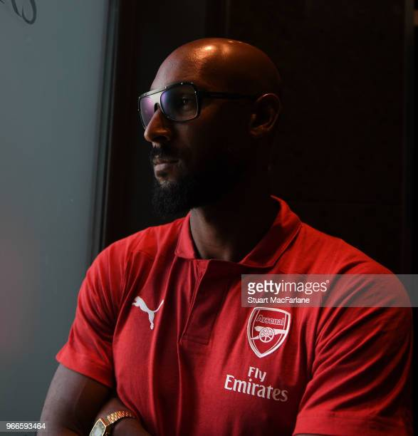 Ex Arsenal and Real Madrid player Nicolas Anelka in the team hotel before the match between Real Madrid CL Legends and Arsenal FC Legends at Estadio...