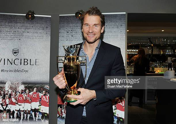 Ex Arsenal goalkeeper Jens Lehmann at the Preview Screening of 'Invincibles' at the Everyman cinema in Hampstead on February 23 2015 in London England