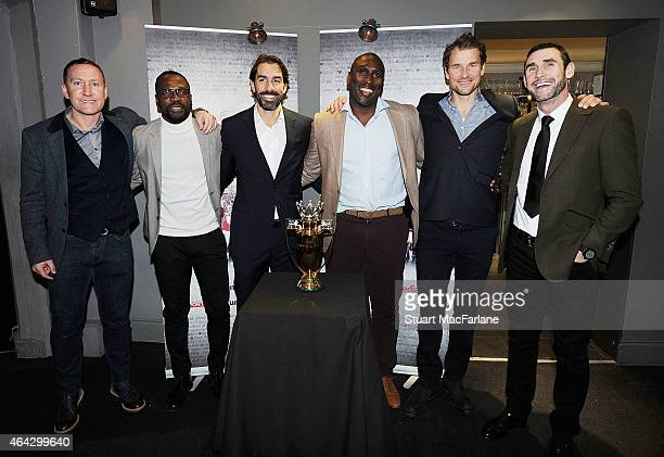 Ex Arsenal players Ray Parlour Lauren Robert Pires Sol Campbell Jens Lehmann and Martin Keown at the Preview Screening of 'Invincibles' at the...