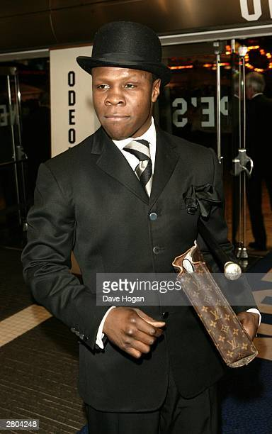 Ex Boxer Chris Eubank arrives at the UK premiere of Lord of the Rings The Return of the King at the Odeon Leicester Square on December 11 2003 in...