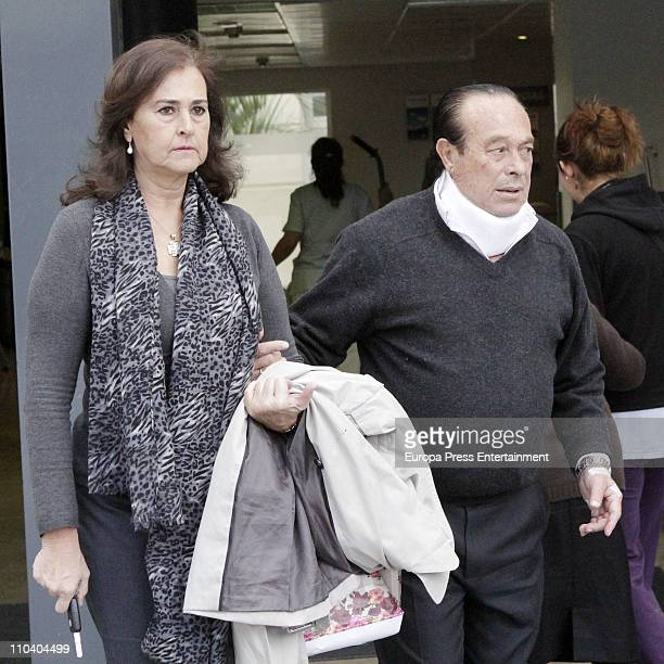 Ex bullfighter Curro Romero and his wife Carmen Tello leave hospital Curro Romero was undergone for two slipped disc at Sagrado Corazon hospital on...