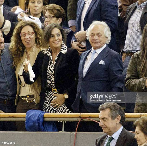 Ex Bullfighter Palomo Linares attends the homage to Vicente Yanguez El Chano at Vista Alegre bullring on March 22 2014 in Madrid Spain The...