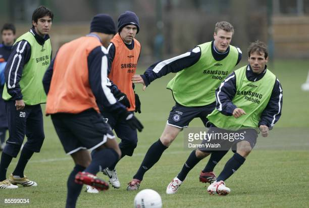 Ex Chelsea legend Gianfranco Zola trains with Chelsea today ahead of tomorrows match at Macclesfield Town