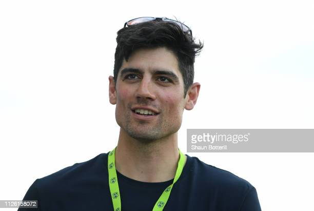 BARBUDA JANUARY 3 Ex England captain Alastair Cook during a net session at Sir Vivian Richards Stadium on January 30 2019 in St John's Antigua and...