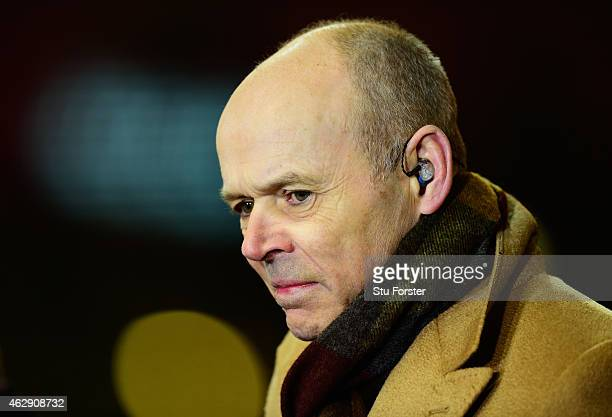 Ex England coach and TV Pundit Clive Woodward looks on before the RBS Six Nations match between Wales and England at Millenium Stadium on February 6...