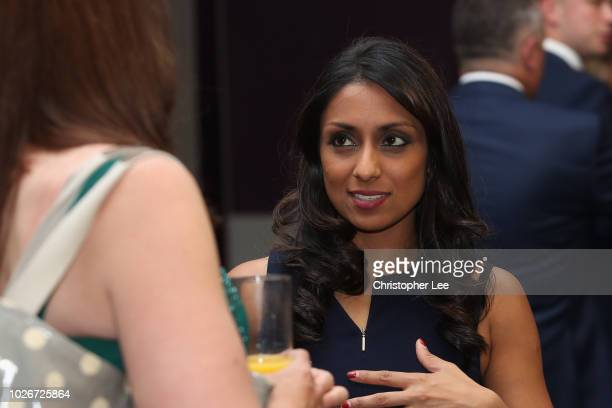 Ex England Women's player Isha Guha during the PCA Indian Dinner at Lord's Cricket Ground on September 4 2018 in London England