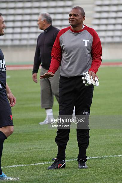 Ex football player Bernard Lama attends the World Charity Soccer 2010 Charity Match for Haiti at Stade Charlety on May 19 2010 in Paris France