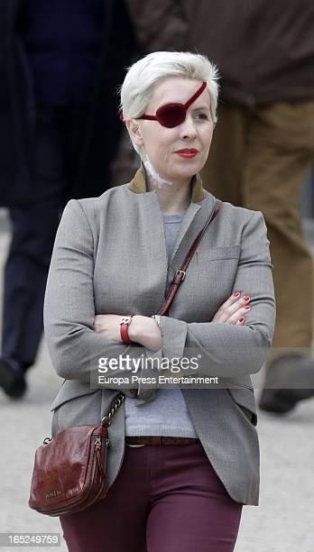 Ex Formula 1 driver Maria de Villota is seen visiting Ruber International Hospital on April 1 2013 in Madrid Spain Maria de Villota 32 years old lost...