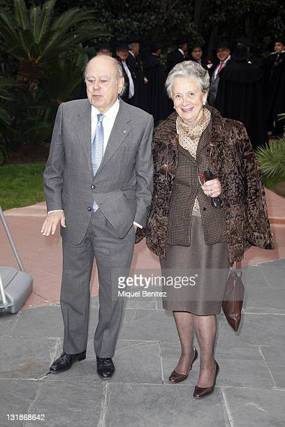 Ex Generalitat's President Jordi Pujol and wife Marta Ferrusola attend the 'Protagonistas Awards 2010' on November 29 2010 in Barcelona Spain