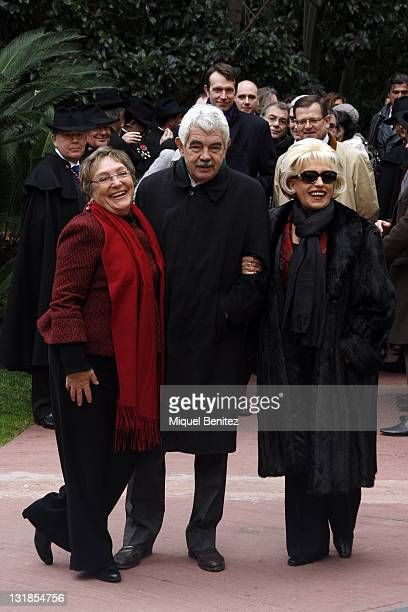 Ex Generalitat's President Pasqual Maragall with his wife Diana Garrigosa and actress Merche Mar attend the Protagonistas Awards 2010 on November 29...