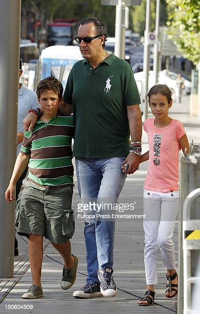 Ex husband of princess Elena of Spain Jaime de Marichalar his son Felipe Juan Froilan Marichalar and his daughter Victoria Federica Marichalar are...