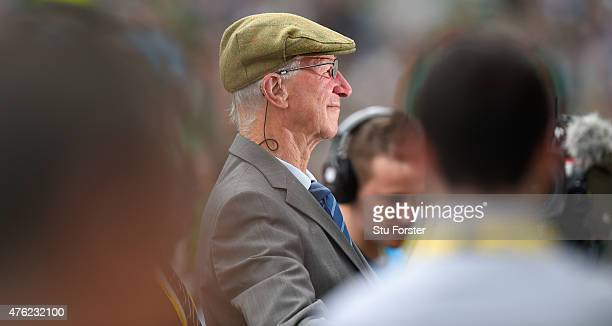 Ex Ireland manager Jack Charlton looks on before the International friendly match between Republic of Ireland and England at Aviva Stadium on June 7...