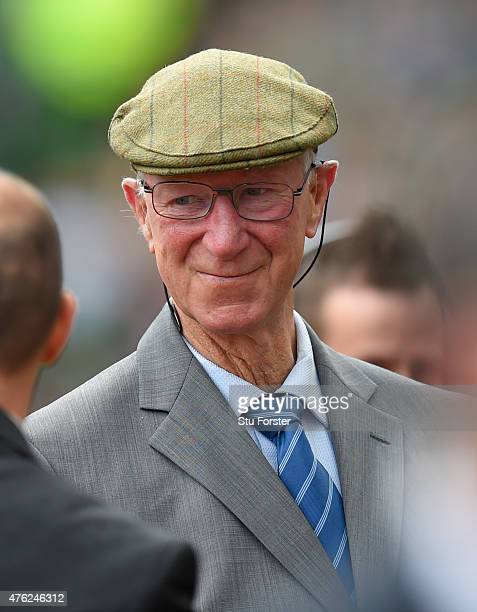 Ex Ireland manager Jack Charlton looks on before the International friendly match between Republic of Ireland and England at Aviva Stadium on June 7...
