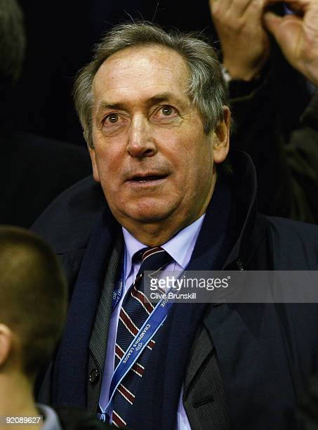 Ex Liverpool manager Gerrard Houllier in the crowd during the UEFA Champions League Group E match between Liverpool and Lyon at Anfield on October 20...
