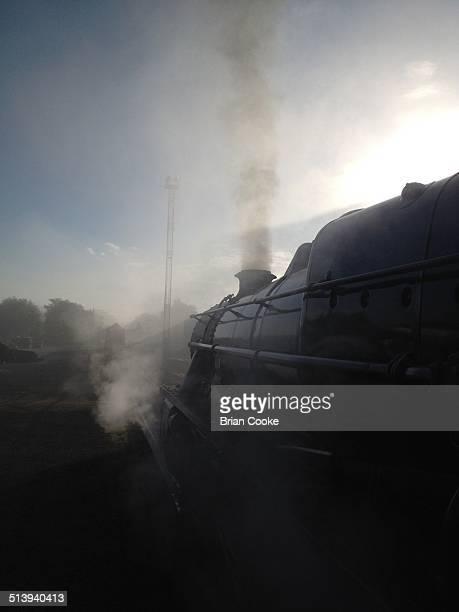 Ex London Midland Scottish 'Black 5' steam locomotive no45231 is prepared at Fort William in Scotland to work West Coast Railways' 'Jacobite' holiday...