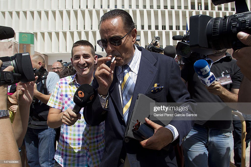 Julian Munoz and Isabel Pantoja Attend Court in Malaga