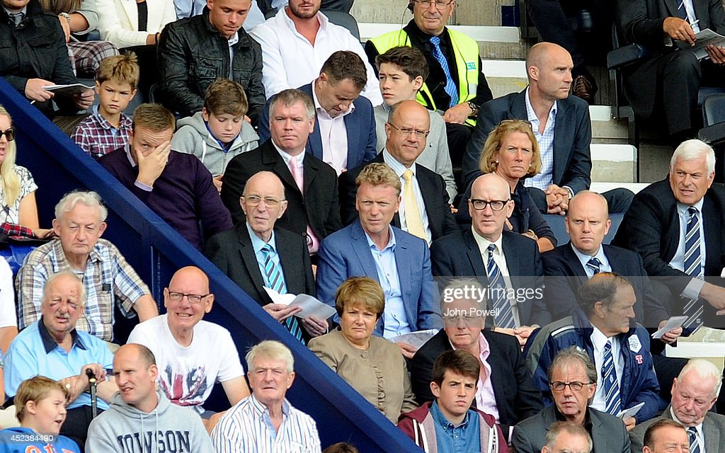 Ex manager of Manchester United David Moyes watches from the stands during the Pre Season friendly match between Preston North End and Liverpool at Deepdale on July 19, 2014 in Preston, Lancashire.