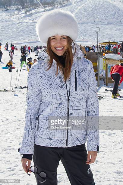 Ex Miss Italy Cristina Chiabotto attends the Charity Ski Race To Collect Donations For 'Star Team For The Children MC' on March 2 2013 in Limone Italy