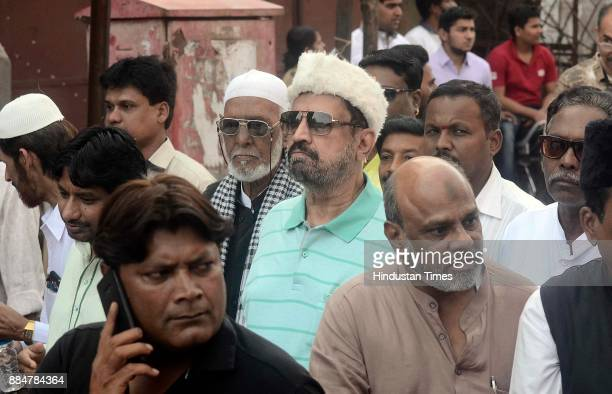 Ex MP of Pune Suresh Kalmadi participates in a procession during Eid MiladUnNabi the birth anniversary of Prophet Muhammad the founder of Islam also...