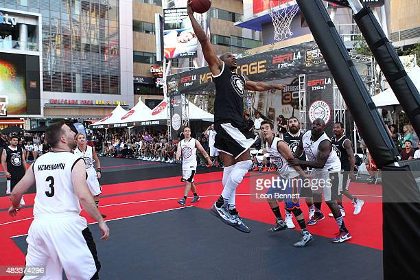 Ex NBA player Corey Maggette attends the ESPNLA All Star Celebrity Basketball Game Kick Off to the 2015 Nike Basketball 3ON3 Tournament Presented By...