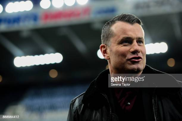 Ex Newcastle goalkeeper Shay Given during the Premier League match between Newcastle United and Leicester City at StJames' Park on December 9 in...