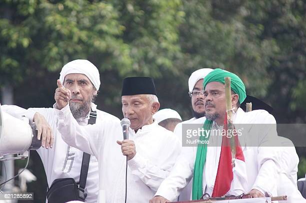 Ex People's Consultative Chief Assembly Amien Rais oration against government on Jihad constitution vehicle joined Islamic Defender Front and...