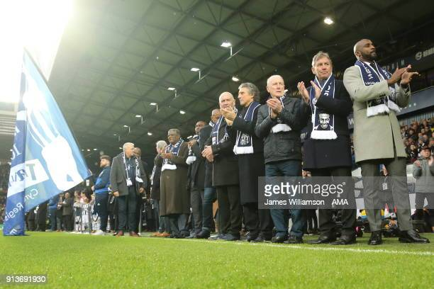 Ex players and staff applaud for Cyrille Regis memorial during the Premier League match between West Bromwich Albion and Southampton at The Hawthorns...