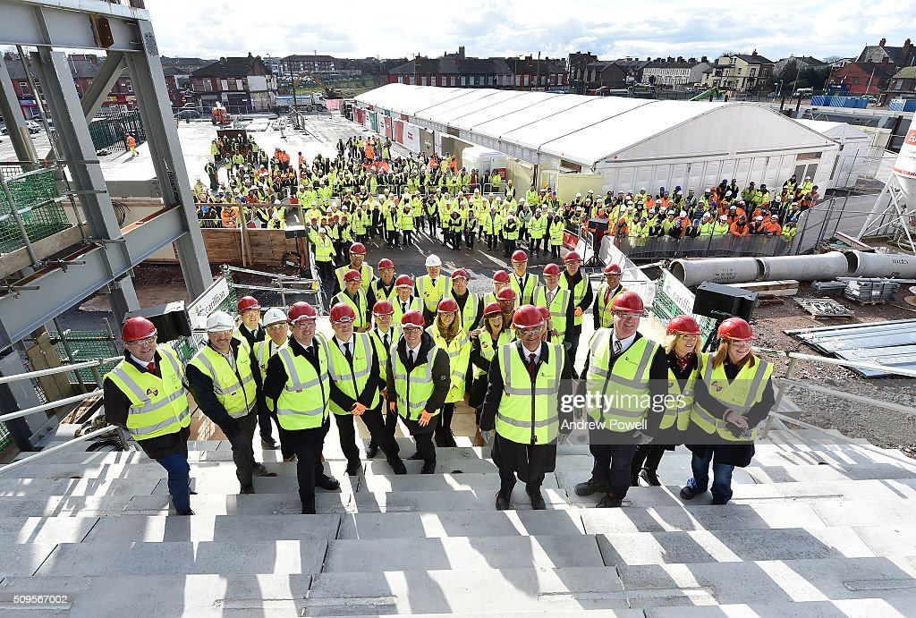Liverpool FC Topping Out Ceremony : News Photo