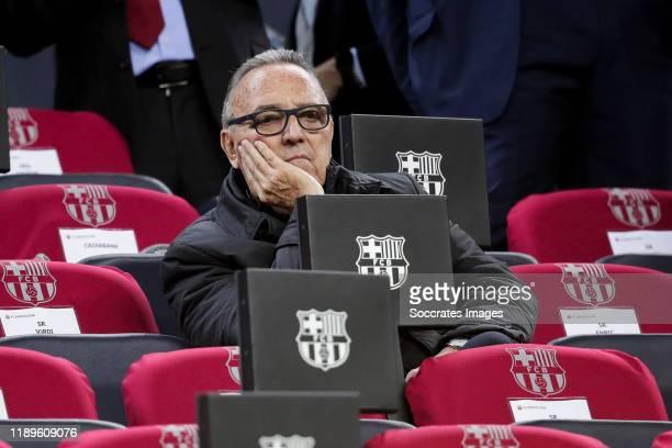ex president Joan Gaspart during the La Liga Santander match between FC Barcelona v Real Madrid at the Camp Nou on December 18 2019 in Barcelona Spain