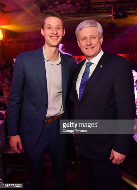 Ex Prime Minister of Canada Stephen Harper and his son Benjamin Harper attend 2018 Canada's Walk Of Fame Awards held at Sony Centre for the...
