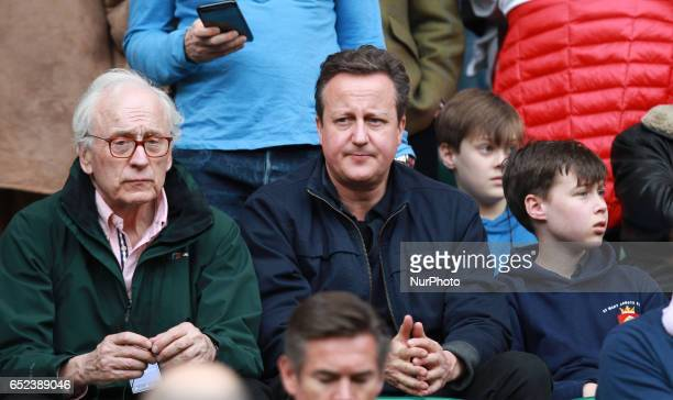 Ex Prime Minster David Cameron during the RBS 6 Nations match between England and Scotland at Twickenham Stadium on 11th of March 2017
