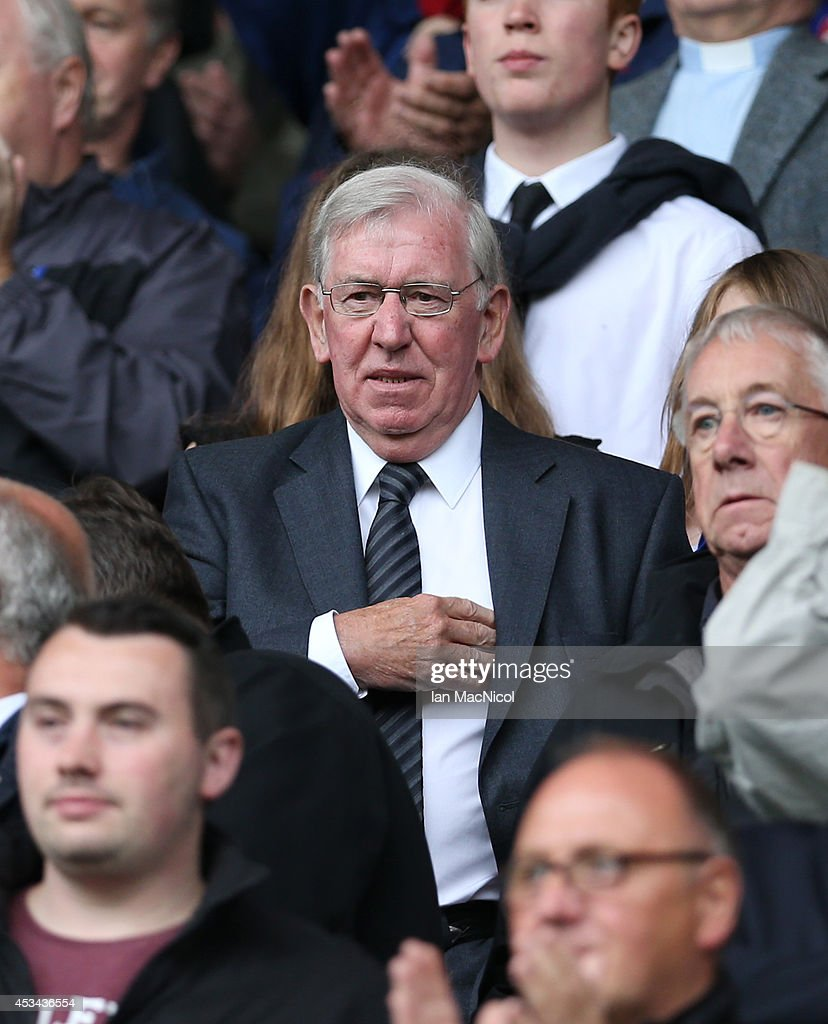 Ex Rangers player and manager John Greig looks on during the Scottish Championship Opening League Match between Rangers and Hearts, at Ibrox Stadium on August 10, 2014 Glasgow, Scotland.
