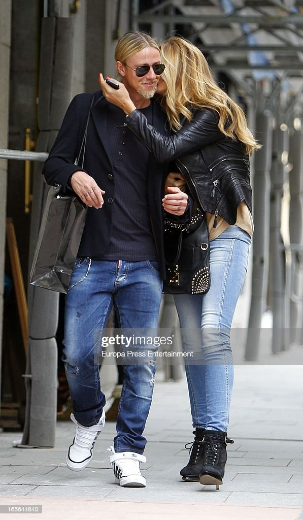 Guti and Romina Belluscio Sighting In Madrid - April 04, 2013