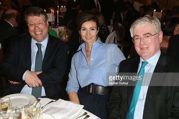 Ex Sir Rory Montgomrey Helen Lambert and Minister Eamon Gilmore attend the Rugby Des Oies Sauvages' Benefit Dinner For 'Children's Ark Hospital...