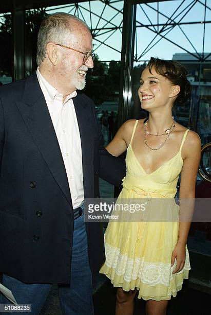 Ex Sony CEO John Calley and actress Natalie Portman arrive at the premiere of Fox Searchlight Pictures' Garden State on July 20 2004 at the Directors...