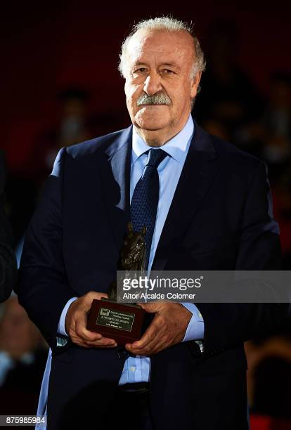 Ex Spanish national coach Vicente del Bosque attends the SICAB Closing Gala 2017 on November 18 2017 in Seville Spain