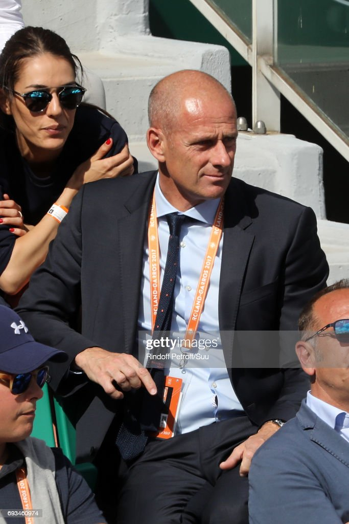 Ex Tennis player Guy Forget is spotted at Roland Garros on