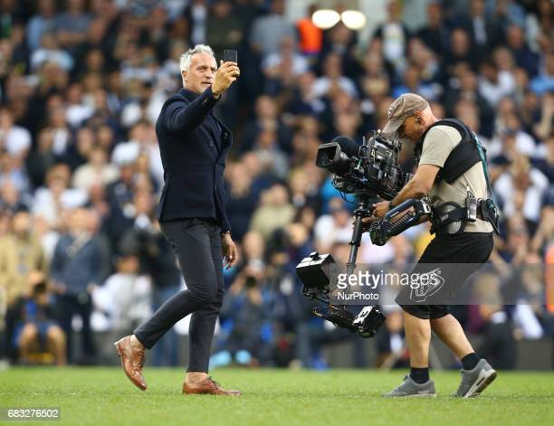 Ex Tottenham Hotspur player David Ginola during Premier League match between Tottenham Hotspur and Manchester United at White Hart Lane London 14 May...