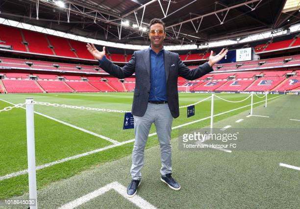 Ex Tottenham Hotspur player Mido poses for a picture prior to the Premier League match between Tottenham Hotspur and Fulham FC at Wembley Stadium on...