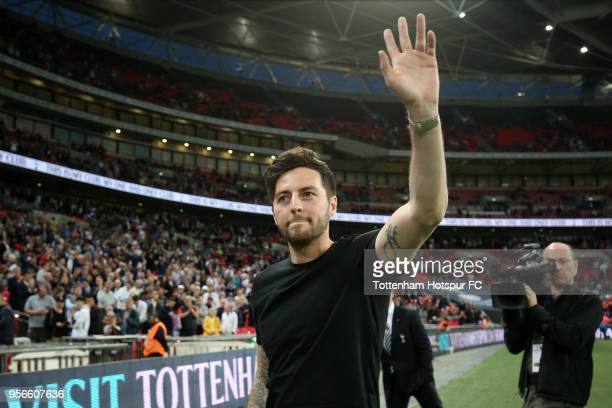 Ex Tottenham Hotspur player Ryan Mason waves to the crowd during half time during the Premier League match between Tottenham Hotspur and Newcastle...