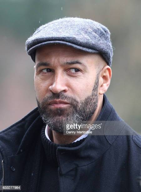Ex Watford player Jason Lee attends the funeral of former England football manager Graham Taylor at St Mary's Church on February 1, 2017 in Watford,...