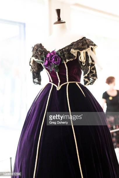 A exact replica of a dress worn by First Lady Mary Todd Lincoln on display at Why They Wore It The Politics Pop Culture Of First Ladies'Fashion...