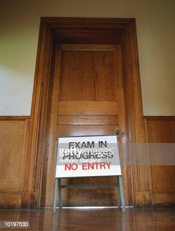 Excellent Exam In Progress No Entry Sign In Front Of Classroom Door Door Handles Collection Olytizonderlifede