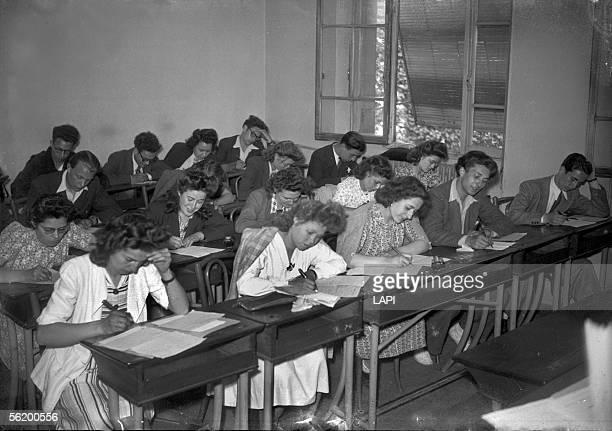 Examination of Baccalaureat. Paris, june 1944.